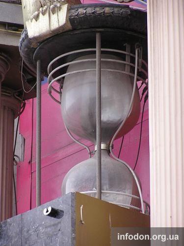 Часы на здании кинотеатра им. Т.Г. Шевченко в Донецке