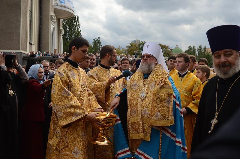 Службу провели митрополит Донецкий и Мариупольский Иларион