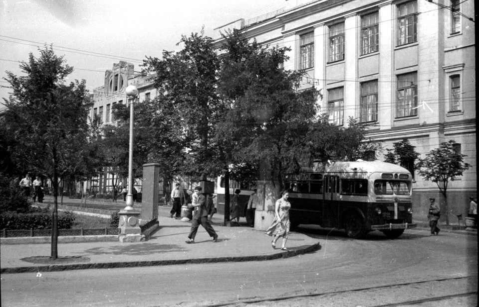 Вид Первой городской больницы, конец 1950-х. Фото:  Л. Брин