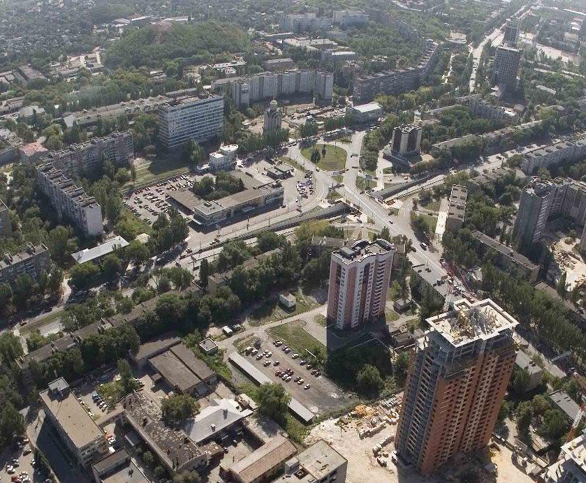 Вид Шахтерской площади в 2006 году