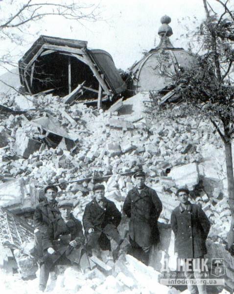 6. 1931 год. Развалины Преображенской церкви после взрыва
