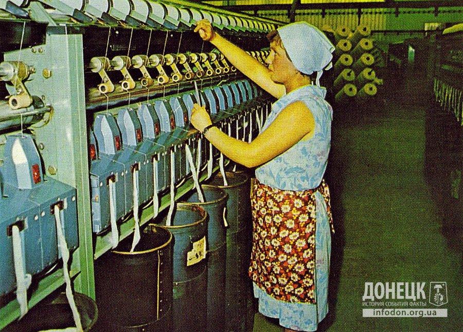 Освоение пневмомеханических прядильных машин БД-200.