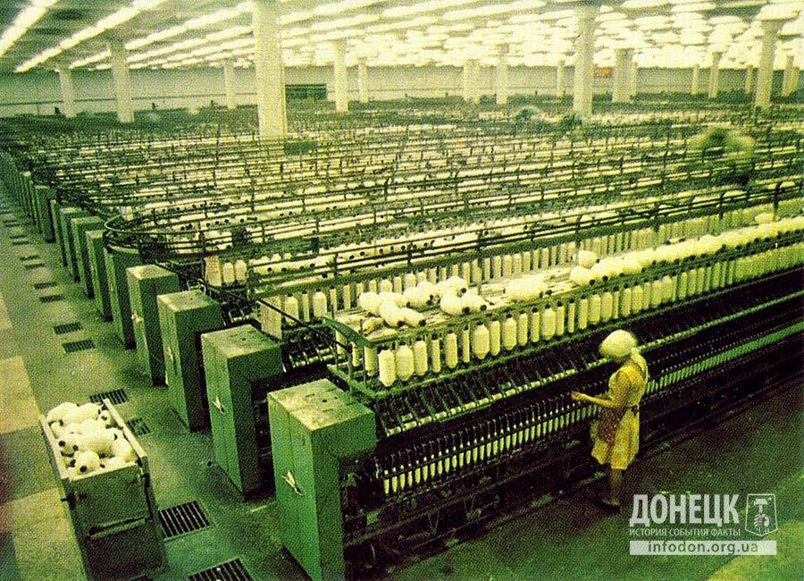 Прядильный цех, выпускающий в сутки более 50 тонн пряжи