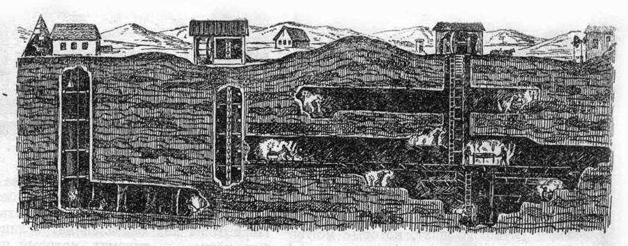Все глубже в землю уходили горизонты угольной шахты. Росла выработка, увеличивалось количество рабочих, но и в XVIII веке методы добычи оставались, как и прежде, крайне примитивными.