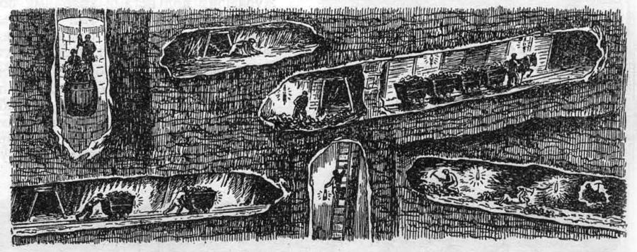 Лежа на спине, сидя в тесном забое, приходилось рубить уголь шахтеру еще совсем недавно. Ползком, таща за собою санки с добытым углем, медленно продвигались «саночники». В шахте было темно и сыро, не хватало воздуха. И все это было меньше чем 100 лет назад
