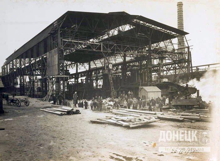 Строительство новомартеновского цеха