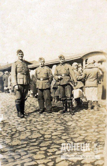 13 апрель 1942 Сталино. Городской рынок