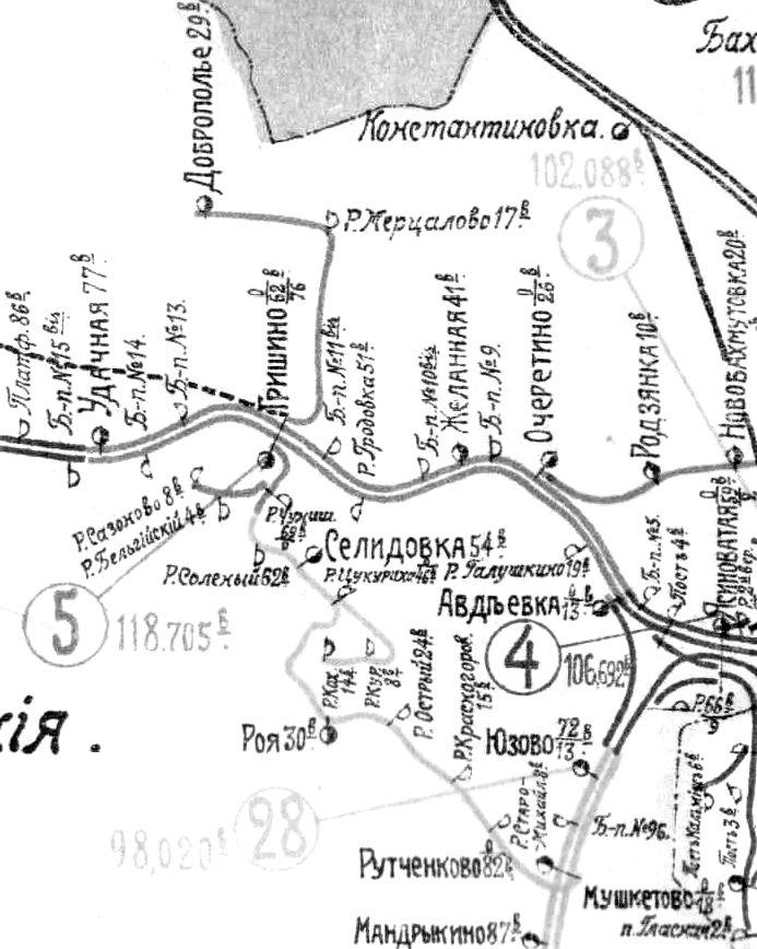 Фрагмент схемы Екатерининской