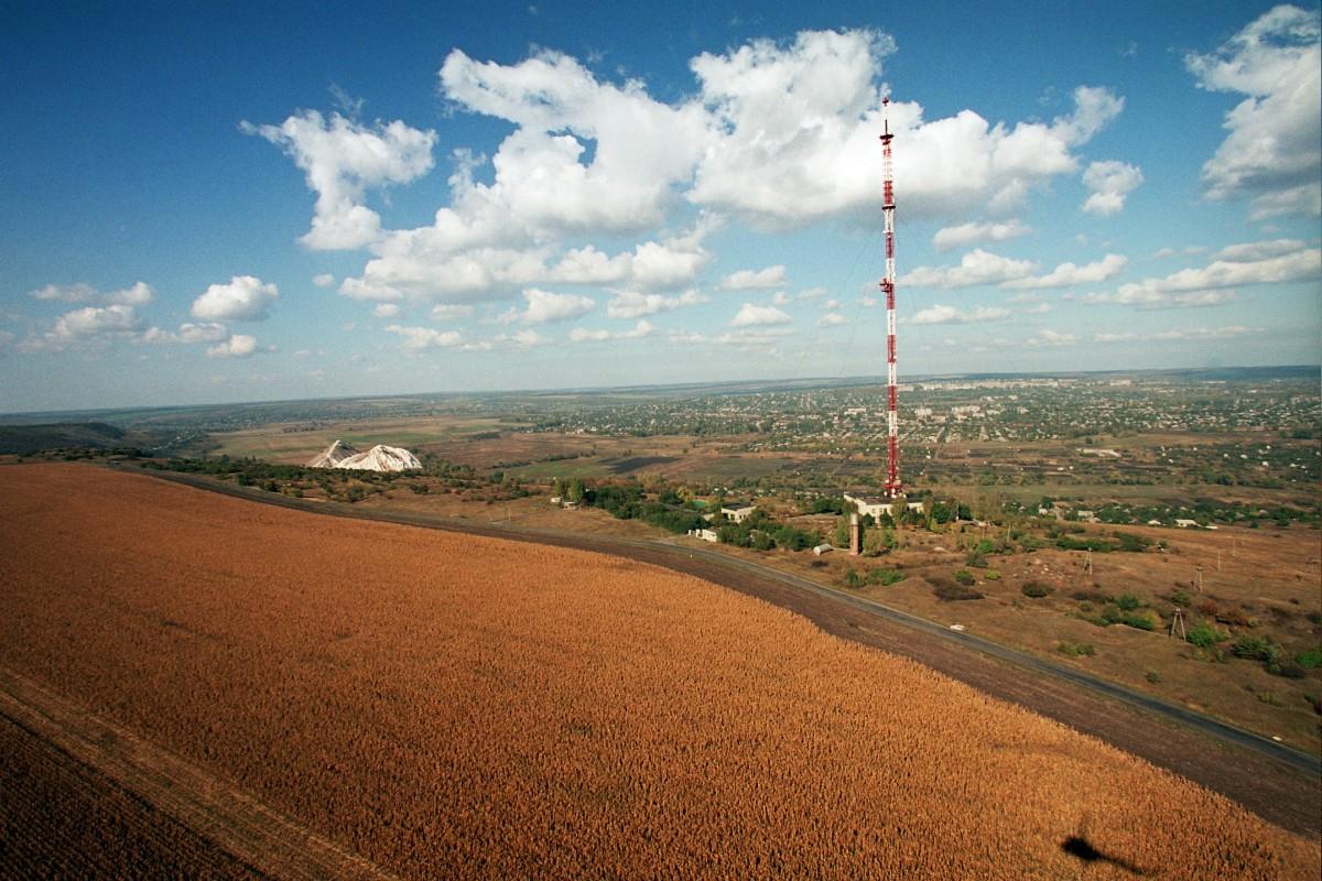 Телевышка на горе Карачун в Славянске