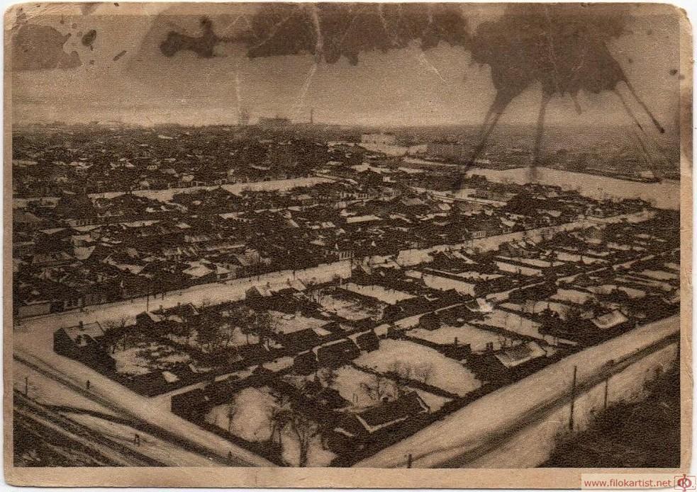 Общий вид города Сталино с юго-восточной стороны