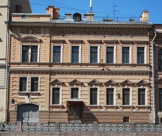 мойка 69 особняк В.Ф.Салтыковой, где жил Г.Раевский