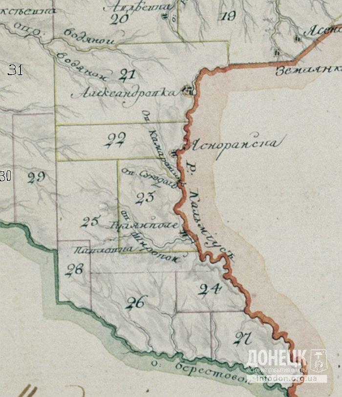 1     karta XVIII век  район современного Донецка