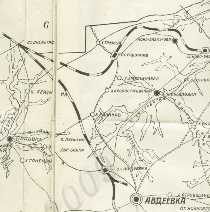 Карта 1926г. Станция Родзянко еще существует
