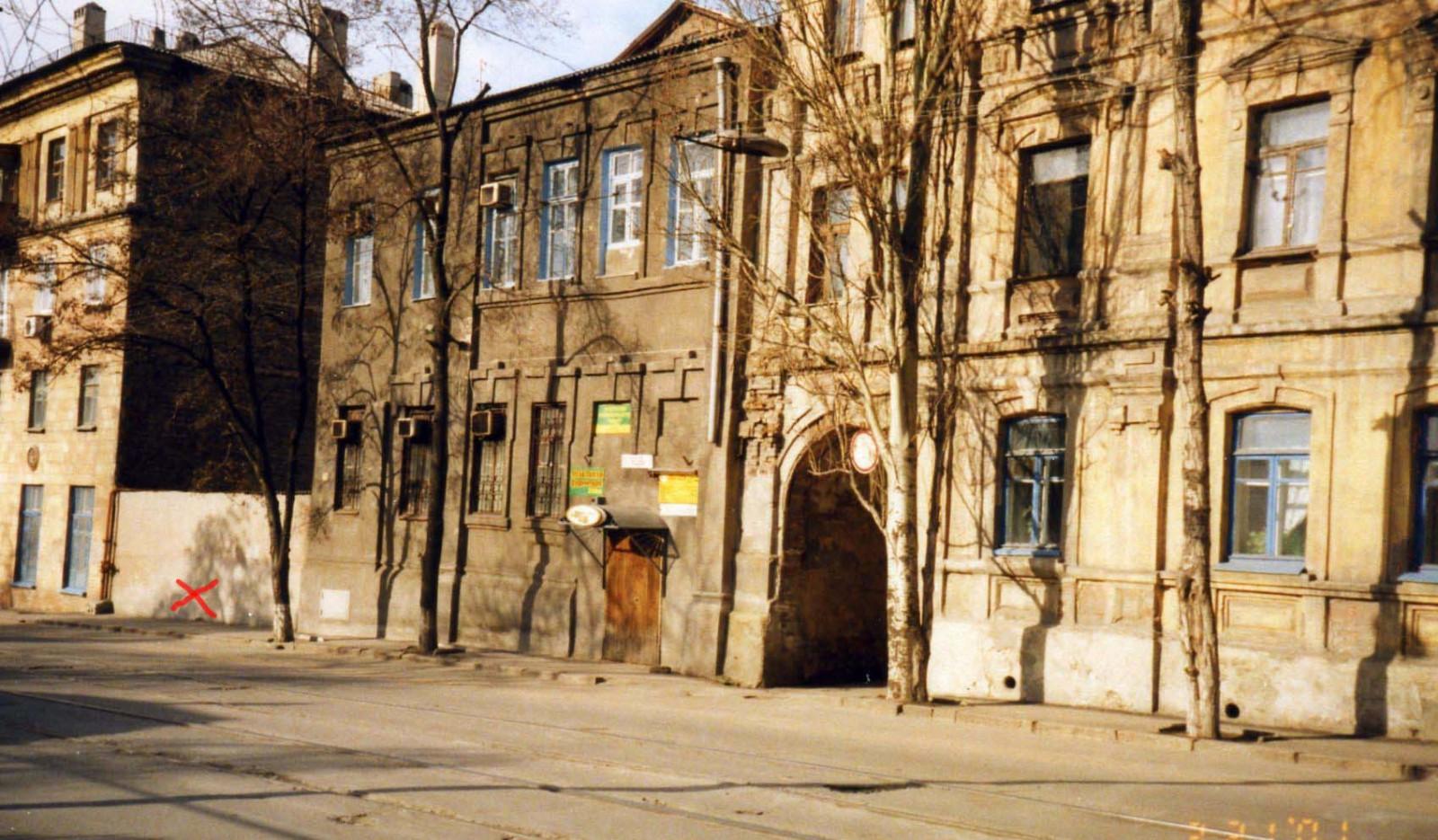 постышева 36..красным х- условно отмечено место дома Зузули.