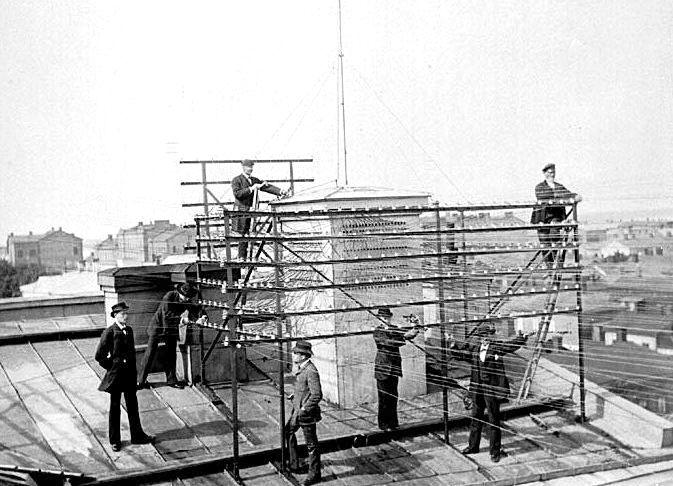3. Провода на крыше
