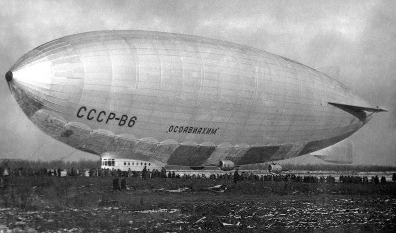 дирижабль СССР В-6, потерпевший катастрофу на Кольском полуостраве