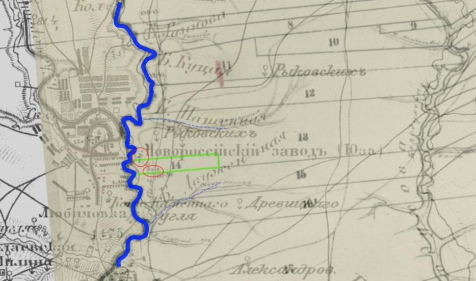 Шубберт 1875 - 1888. наложение карты миус.уезда1