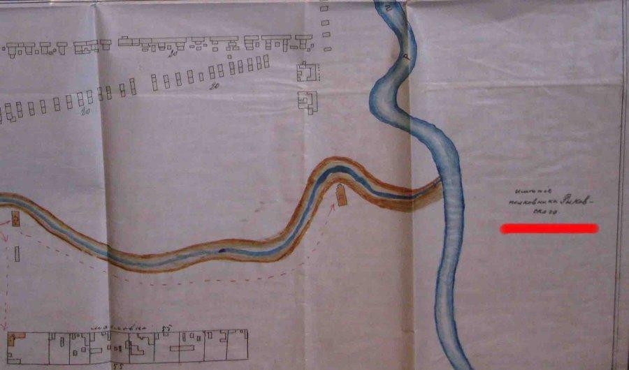 фрагмент карты 1892 г. отмечено имение Рыковского