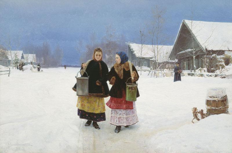 «Соперницы», 1890 г. Холст, масло. 71 x 106 см. Государственная Третьяковская галерея, Москва, Россия