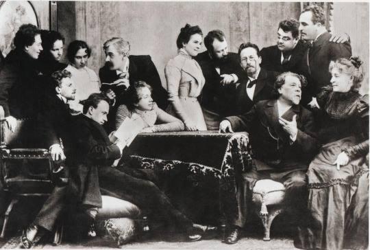 А.П. Чехов с артистами МХАТа