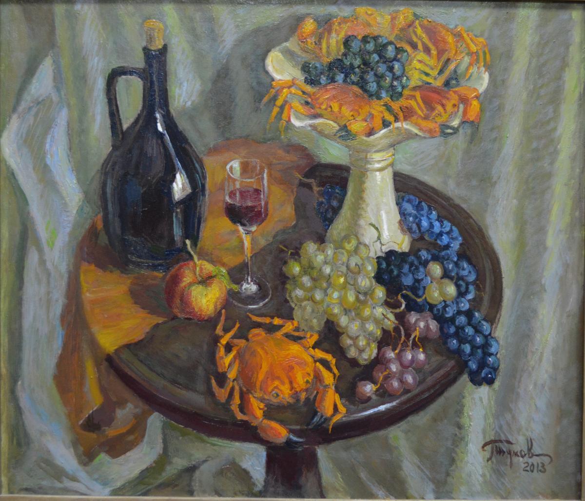1. «Натюрморт с чёрной бутылкой» – заслуженный художник Украины Геннадий Жуков