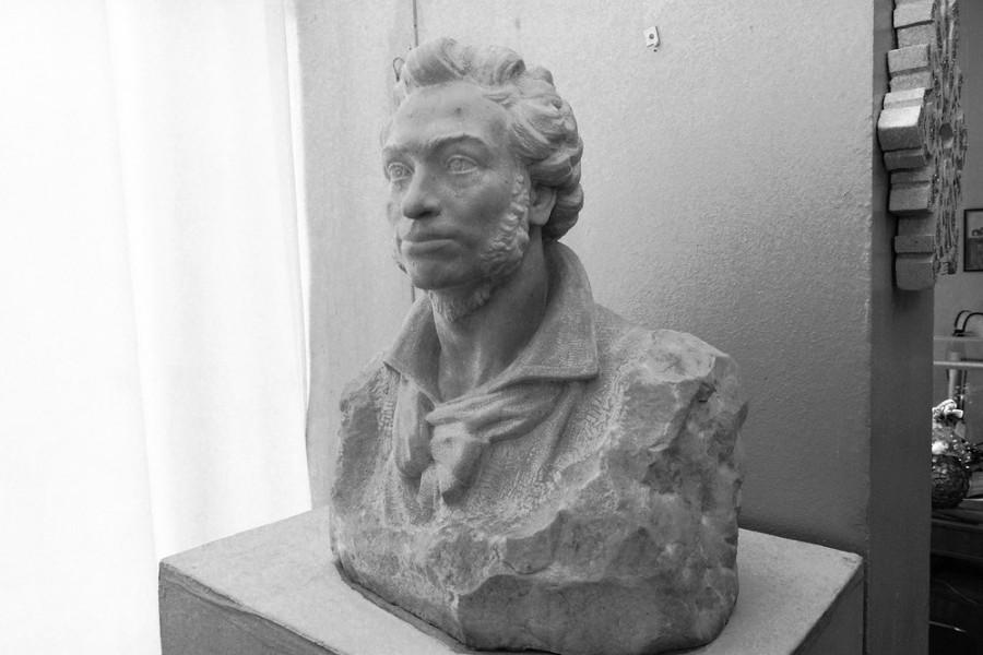Бюст А.С. Пушкина из экспозиции Донецкого художественного музея