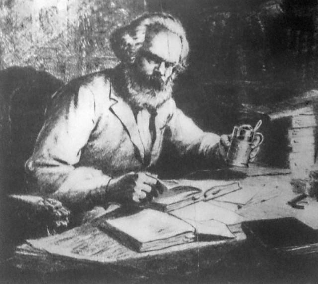 Карл Маркс. Иллюстрация из журнала «Донбасс» №3, 1968 г