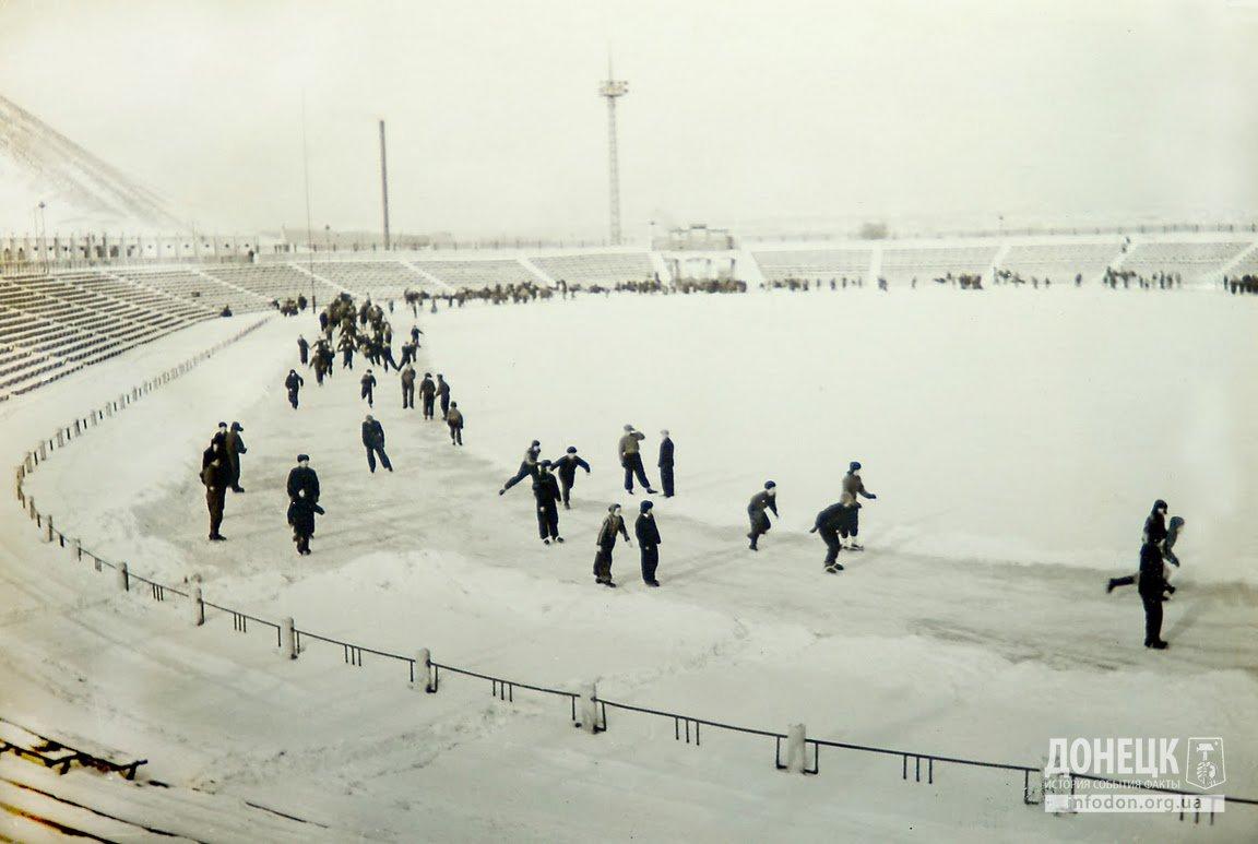 Каток на стадионе ДСО Шахтер