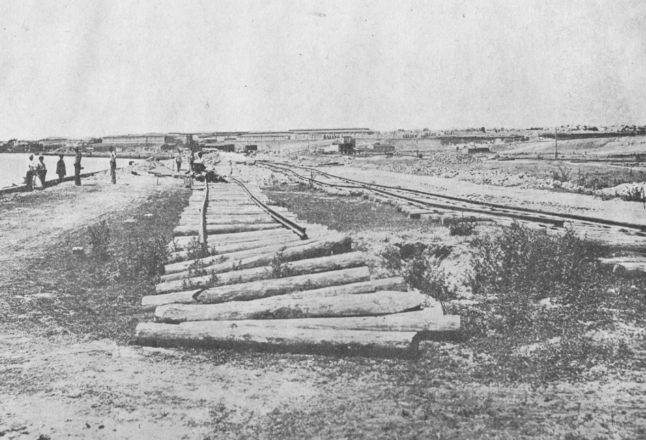 Строительство железной дороги  (район Павлограда)