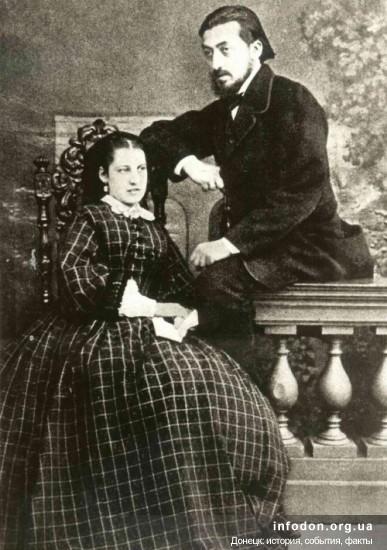Винявский с женой 1862