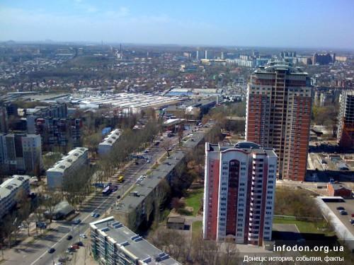 Вид с БЦ Северный, Донецк, 2013