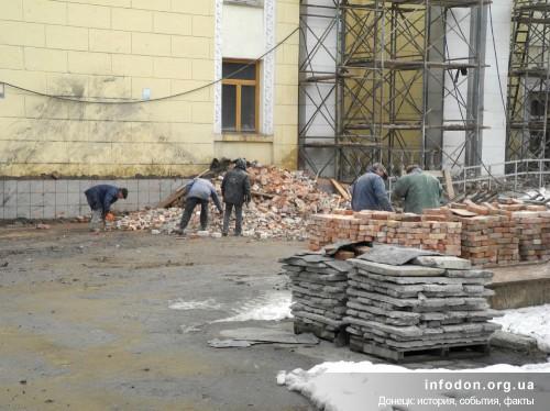 Реконструкция ДК Горького, февраль 2013