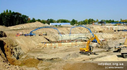 Строительство Донбасс Арены. 2006.09.27. Земляные работы