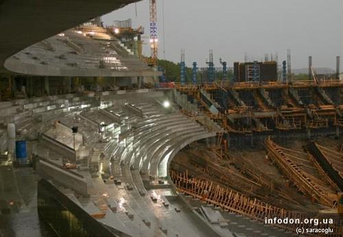 Строительство Донбасс Арены. 2007.08.14