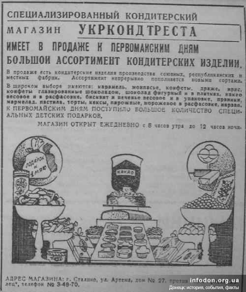 Специализированный кондитерский магазин Укркондтреста