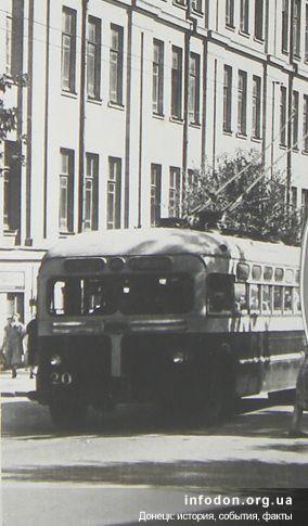 Троллейбус в Донецке, 1960-е