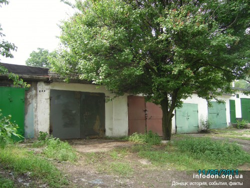 На месте юзовского концлагеря №7 сегодня стоят гаражи