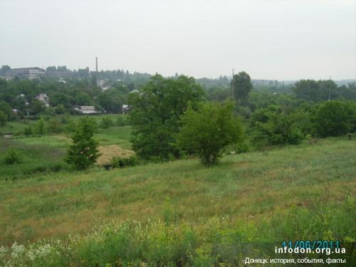 По этим холмам ходили на работу в шахту «София» заключенные Юзовского концлагеря