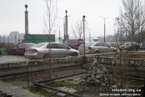 Площадь Конституции. Неработающий фонтан. Донецк, ноябрь 2011